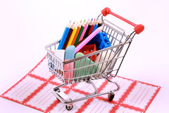 Back to school shopping Royalty Free Stock Photos