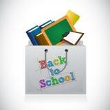Back to school shopping bag illustration design Stock Photo