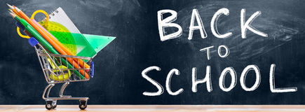 Back to school shopping. Royalty Free Stock Image