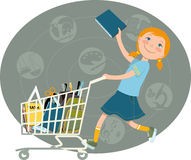 Back to school shopping Stock Photography