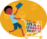 Back to school shopping Stock Images