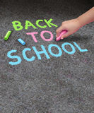 Back To School Sidewalk Chalk Royalty Free Stock Images