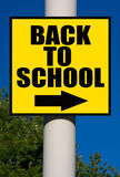 Back To School Sign Stock Images