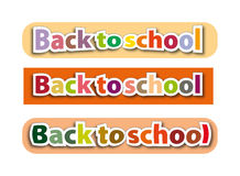 Back to school - sign Stock Photo
