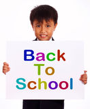 Back To School Sign As Symbol For Education Stock Images