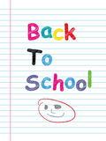 Back to School Sign Stock Photography