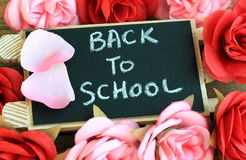 Back to school sign Stock Image