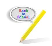 Back to school sign illustration design Royalty Free Stock Image
