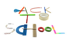 Back to school sign made of accessories Stock Images