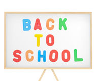 Back to school sign on magnetic board Royalty Free Stock Photo