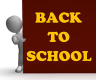 Back To School Sign Means Education And Stock Photos