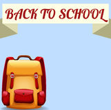Back to school sign with schoolbag Stock Image