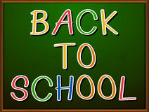 Back to school signboard Royalty Free Stock Photo