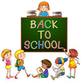 Back to school signboard Stock Image