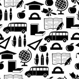 Back to school silhouettes pattern seamless Stock Photography