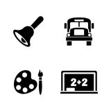 Back to School. Simple Related Vector Icons Royalty Free Stock Images