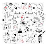 Back to school sketch Royalty Free Stock Photography
