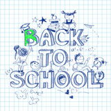Back to school sketch background Royalty Free Stock Photos