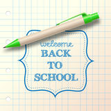 back to school sketch with ballpoint Stock Photography