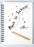 Back to school. Sketch book with a phrase Back to School Stock Photos