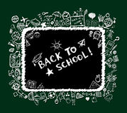 Back to school, sketch frame for your design Stock Photo