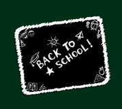 Back to school, sketch frame for your design Stock Image