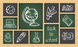 Back to school sketch icon set Stock Image