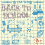 Back to School Sketch Royalty Free Stock Photo