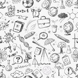 Back to school - sketch seamless background. Royalty Free Stock Image