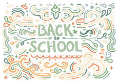 Back to school sketch. Vector illustration. Royalty Free Stock Photo