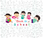 Back to school sketches Stock Photos