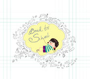 Back to school sketches Royalty Free Stock Image