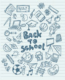 Back to school sketchy doodles Royalty Free Stock Photo