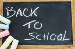 Back to school slate Royalty Free Stock Photography