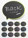 Back To School Speech Bubbles Stock Image