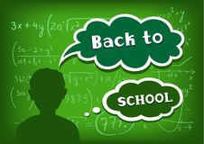 Back to school speech and thought Stock Image