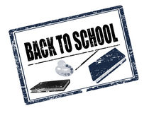 Back to school stamp black Stock Photo