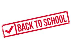 Back to school stamp Royalty Free Stock Photo