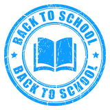 Back to school vector stamp Royalty Free Stock Photo
