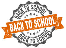Back to school stamp Stock Photos