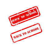 BACK TO SCHOOL stamp sign text red. Royalty Free Stock Photos