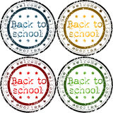 Back to school stamps Stock Photo