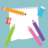 Back to School Stationery Items Royalty Free Stock Photos
