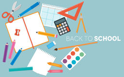Back to School Stationery Set Royalty Free Stock Photos