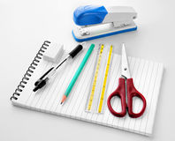 Back to School Stationery Royalty Free Stock Photography