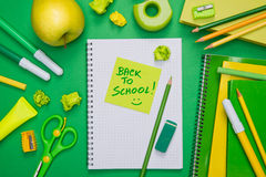 Back to school with stick note Stock Images