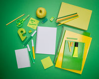 Back to school with stick note Royalty Free Stock Photo