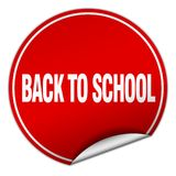 Back to school sticker. Back to school round sticker isolated on wite background. back to school Stock Photography