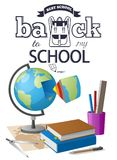 Back to School Sticker with Black-and White Text royalty free illustration