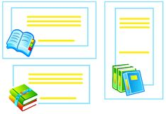 Back to school stickers with books Stock Photography